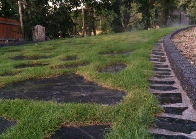 Nawadnianie trawnika w ogrodzie Góry Opawskie