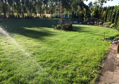 Nawadnianie trawnika w ogrodzie Prudnik